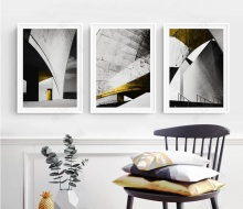 Nordic Posters Abstract Black and White Building H