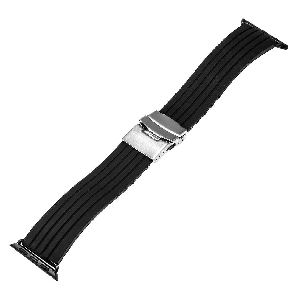 Silikonegummi urbånd til iWatch Apple Watch Series 5 4 3 2 1 - Tilbehør til ure - Foto 2
