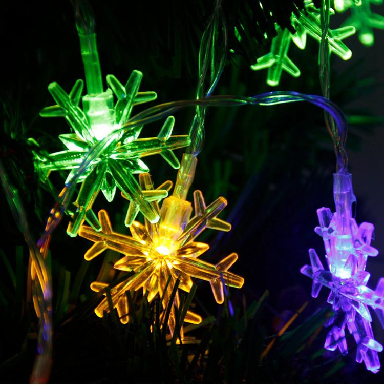 snowflake string lights W1420-00-06