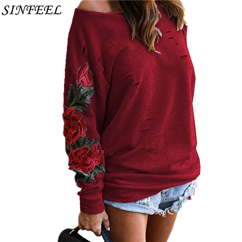 5xl Autumn Harajuku Hooeded Sweatshirt Women Elegant Floral Embroidery Hoodies Long Sleeve Hollow Out Sweatshirt Plus Size