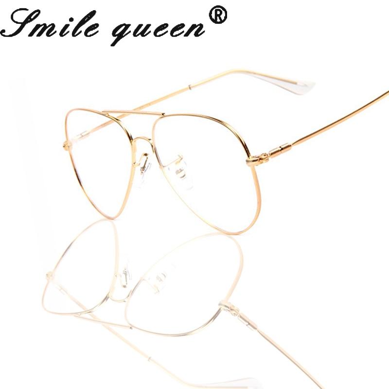 2016 New TR90 Glasses Frame Aviation Eyeglasses Frames Men Brand Nerd Clear Glasses Gold Shield Frame With 2 Color