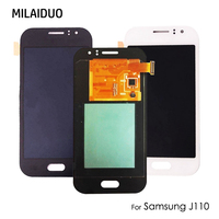 Super AMOLED For Samsung Galaxy J1 ACE J110 LCD Display OLED Touch Screen Digitizer Assembly Replacement Parts Black White 4.3