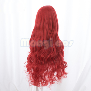 Image 4 - Aquaman Mera פאת קוספליי האמריקאי אנימה סרט 85 cm ארוך מתולתל גלי חום עמיד סינטטי שיער נשים תלבושות המפלגה פאה אדום