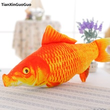 cute red carp large 100cm fish plush toy soft doll throw pillow birthday gift s0215