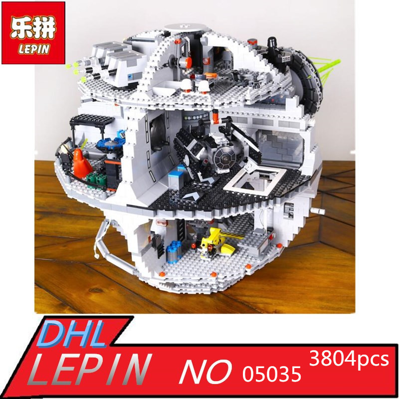 IN STOCK 3804pcs NEW LEPIN 05035 Death Star Building Block Bricks Toys Kits Compatible with 10188 Child Gift new lepin 05035 star wars death star 3804pcs building block bricks toys kits compatible legoed with 10188 children educational