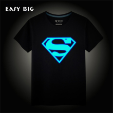 Heights:90-150CM Summer Fashion Fluorescence Unisex Children Boys T-shirts Short-Sleeved Noctilucent Kids Girls Tops CC0078