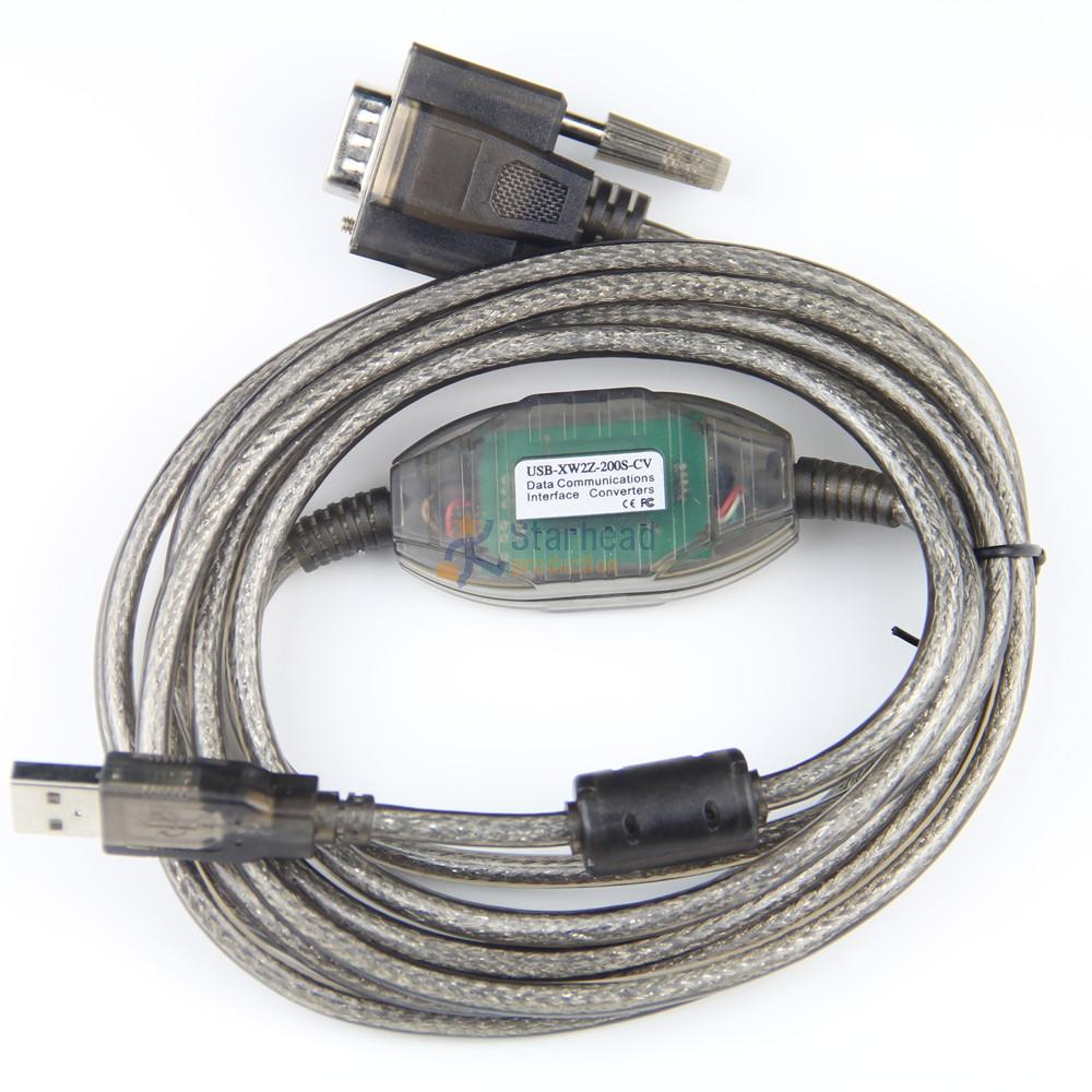 New Smart Usb-xw2z-200s Usb-xw2z-200s-cv Programming Cable For Omron Plc Hmi Rs232 Db9 db9f Usb To Rs232 Support Win7