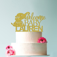 Cake Topper, Baby Shower Topper,Elephant Shower,Baby Decorations,Personalized Welcome