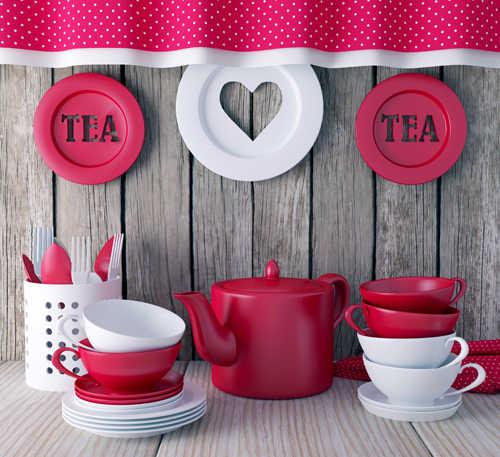 سينوبيك 5X5ft لاستوديو غرفة المطبخ داخلي موضوع فن النسيج الشاي الوليد التصوير الخلفيات D-3940