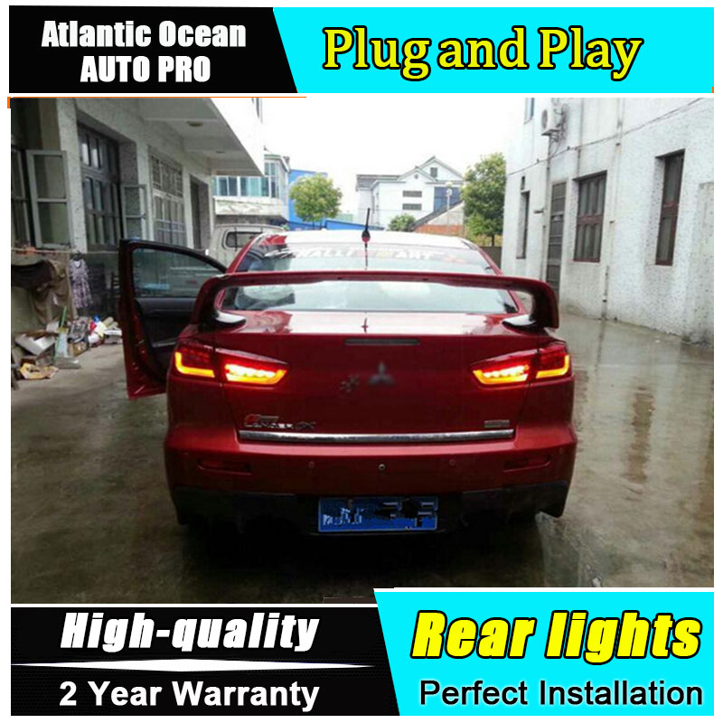 JGRT Car Styling for Mitsubishi LANCER Taillights 2010-2012 for LANCER LED Tail Lamp Rear Lamp Fog Light For 1Pair ,4PCS 1pair auto car front bumper grille fog light lamp with switch kit for mitsubish lancer 08 13 lights car styling
