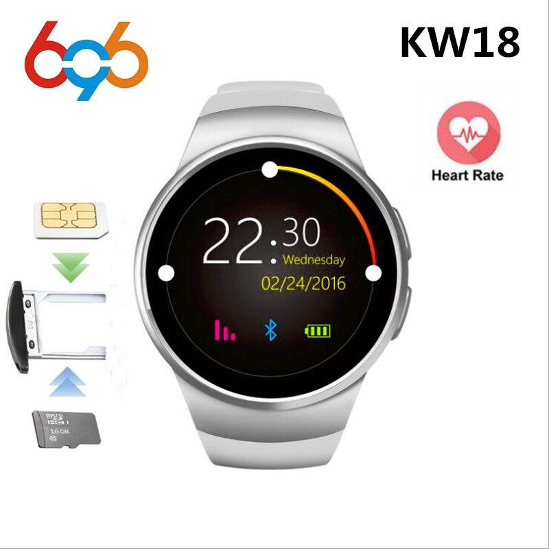 696 KW18 montre intelligente SIM TF MTK2502 moniteur de fréquence cardiaque Smartwatch écran tactile bluetooth montre-bracelet pour apple android IOS