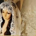 Boda velos moda De lujo largo velo nupcial Veu De Noiva boda cristal De encaje accesorios por las novias 2015 caliente nuevo estilo del verano