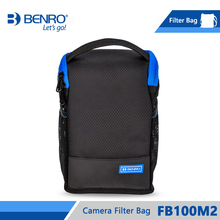 Benro Bolsa de filtro FB100M2, soporte de almacenamiento de filtros para 4 Uds., filtros cuadrados, 3 uds., bolsa de nailon redonda