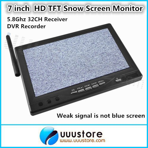 7 inch Wireless HD LCD TFT Snow Screen Monitor RC800 Built-in 5.8G 32CH Receiver and DVR Recorder For FPV System free shipping 7 inch fpv display screen aerial lcd screen snow uav image transmission in wireless 5 8g receiver