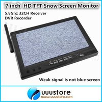 7 inch Wireless HD LCD TFT Snow Screen Monitor RC800 Built in 5.8G 32CH Receiver and DVR Recorder For FPV System