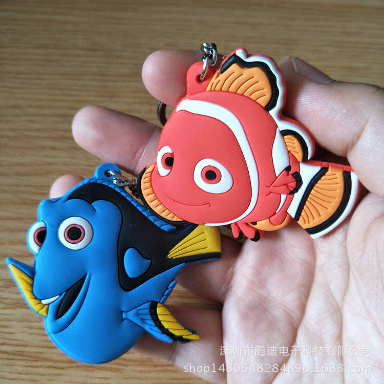 Мультяшная рыба Косплей ПВХ брелок Немо Дори Аниме Мода забавная Милая силикона para llaves сумка Подвеска chaveiros аксессуары