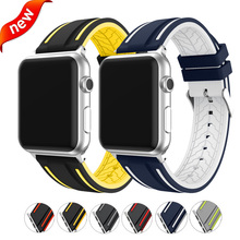 Soft silicone strap for apple watch band 40mm&bracelet apple watch 44mm sport wristband for iwatch band 42mm series 4 3 2 1 38mm цена и фото