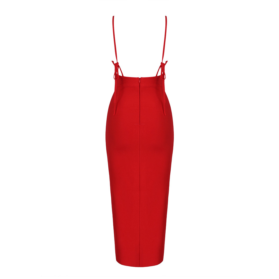 Summer Bandage Dress Celebrity Party Spaghetti Strap V Neck Sexy Club Night Out Dress Women  Vestidos-in Dresses from Women's Clothing    3