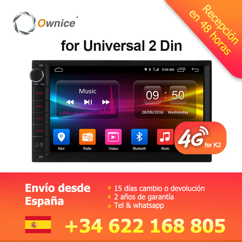 Ownice C500 Android 6.0 Octa 8 core Radio 2 DIN 2 gb RAM 32 gb ROM universel GPS radio wifi soutien 4g LTE Réseau DAB + aucun dvd