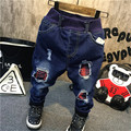 The boy with velvet jeans 2016 new pants feet thick warm pant for children free shipping
