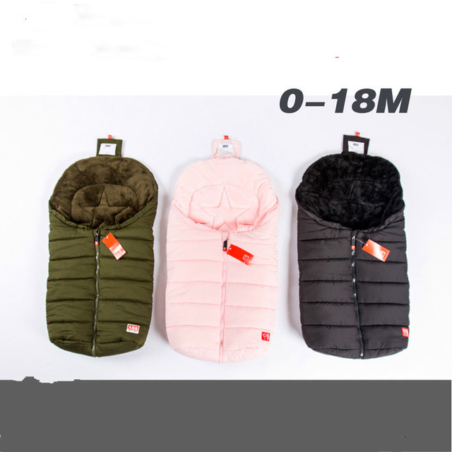 Thickening winter Baby kinderwagen sleeping bag stroller muslin swaddle newborn's envelope baby wrap blanket keep warm bedding