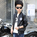 2017 new PU leather spring jackets for boys children red black autumn leather jacket for teenage little boys children clothing