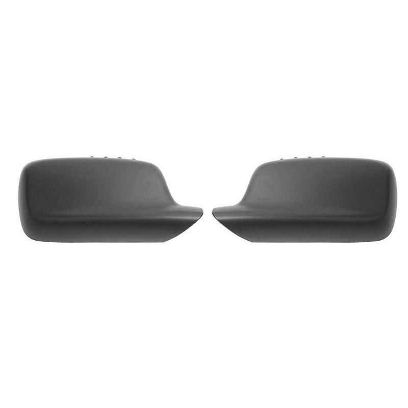 1 Pair Matte Black Side Rearview Mirror Cover Trim Door Rear View Mirrors Frame Car Accessories For Bmw E46 E65 E66 E67 511670