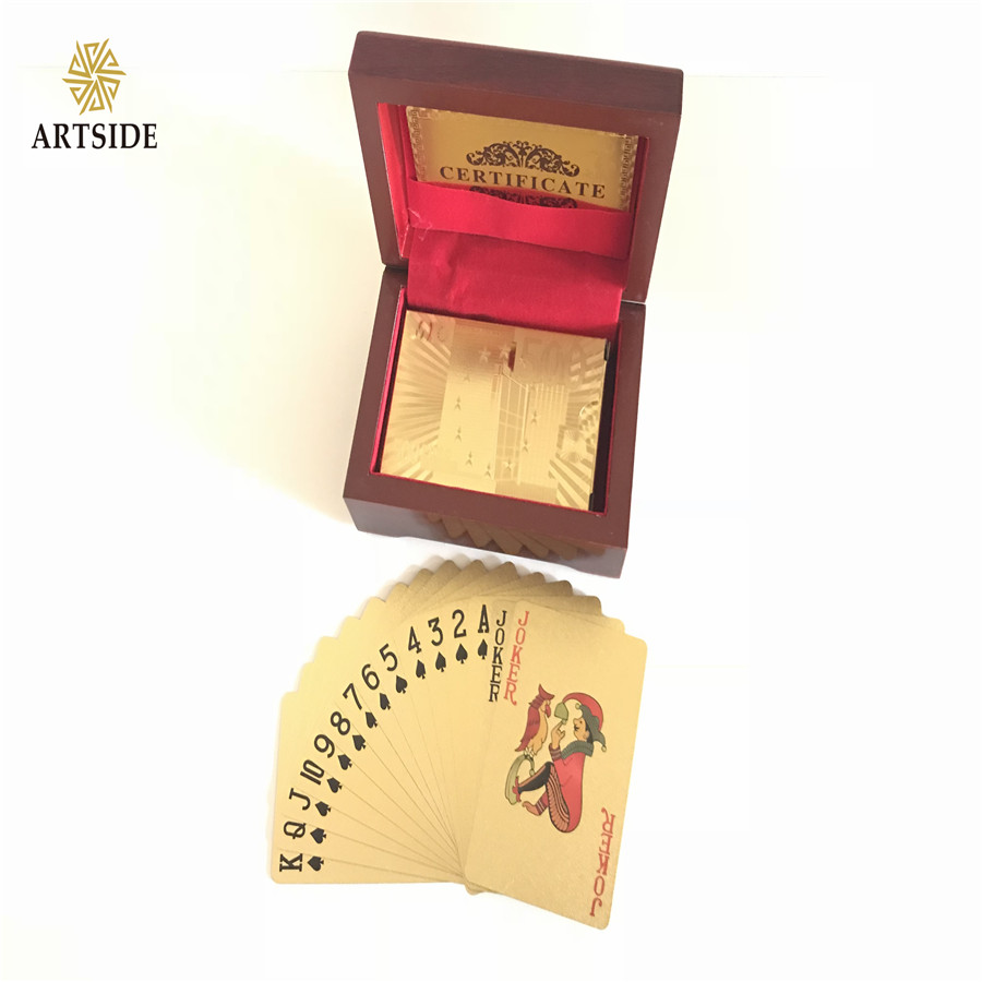 Drop Ship Deal EURO 500 24K Gold-Plated Playing Cards With Case And Certificate