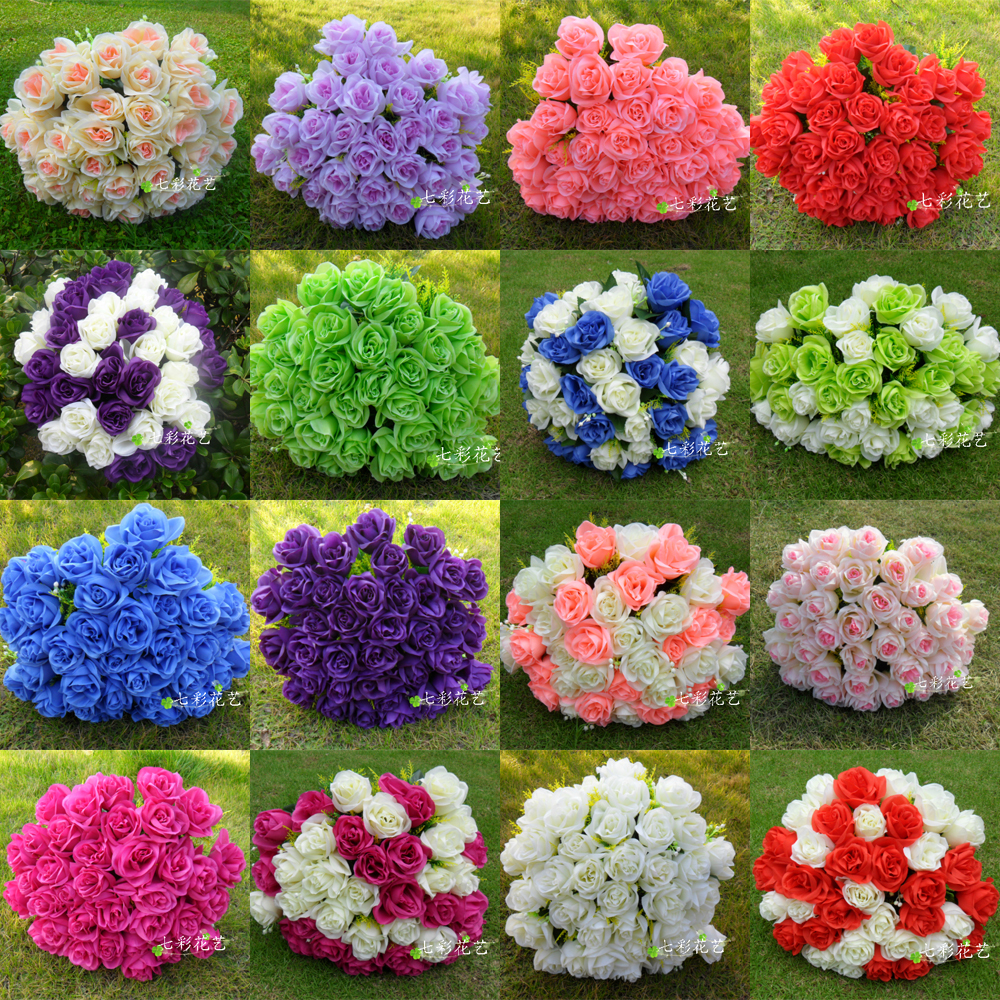 Wedding flower bouquet arrangement many color flower decoration for ...
