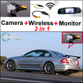 3in1 Special Wi-Fi Камера + Беспроводной Приемник + Зеркало Экрана парковка Заднего Вида Система Для Mercedes Benz MB CLK C209 W209
