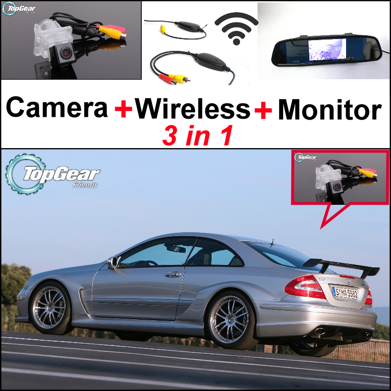 3in1 Special WiFi Camera + Wireless Receiver + Mirror Screen Parking Rear View System For Mercedes Benz CLK MB C209 W209 liislee for mercedes benz cl mb w216 cls w218 special camera wireless receiver mirror screen 3in1 backup parking system