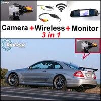 Otomobiller ve Motosikletler'ten Araç Kamerası'de 3in1 Özel WiFi Kamera + Kablosuz Alıcı + Ayna Ekran Park Dikiz Sistemi Mercedes Benz CLK MB C209 w209