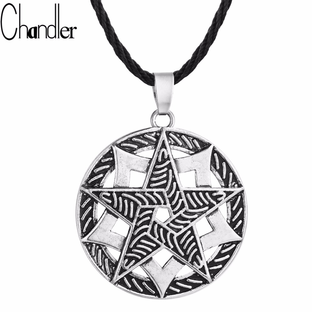 norse vikings pendentif collier rond pentagramme pendentif femmes hommes