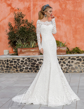 Modest Long Sleeve Mermaid Wedding Dresses Arabic Lace Bridal Gown Customized Vestidos de Novia