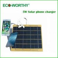 Eco würdig beste tragbare solar handy universellen handy-ladegerät 5 v für iphone note mit usb-kabel