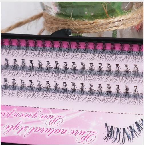 11a4c7c842e 60pcs Makeup Individual Eyelashes Extension 8//10/12mm Cluster Eye Lashes  Fake False