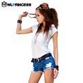 Owlprincess Fashion Hole Style jeans shorts Sexy women Denim Shorts Low Waist Jeans Short feminino Summer Hot Sale
