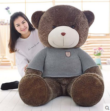 big plush round eyes wathet sweater teddy bear toy huge bear doll gift about 160cm