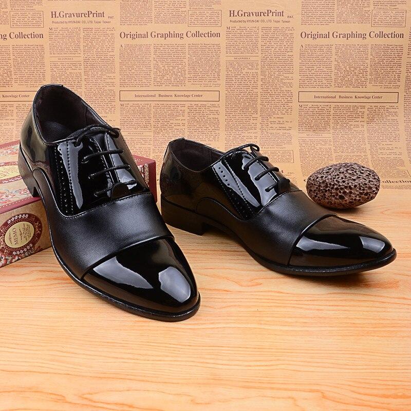 2015 vestir suave charol de del zapatos Oxford moda de zapatos la BJ3073 del otoño negro hombre zapatos hombres zapatos boda resorte en cuero de blanco rr47q