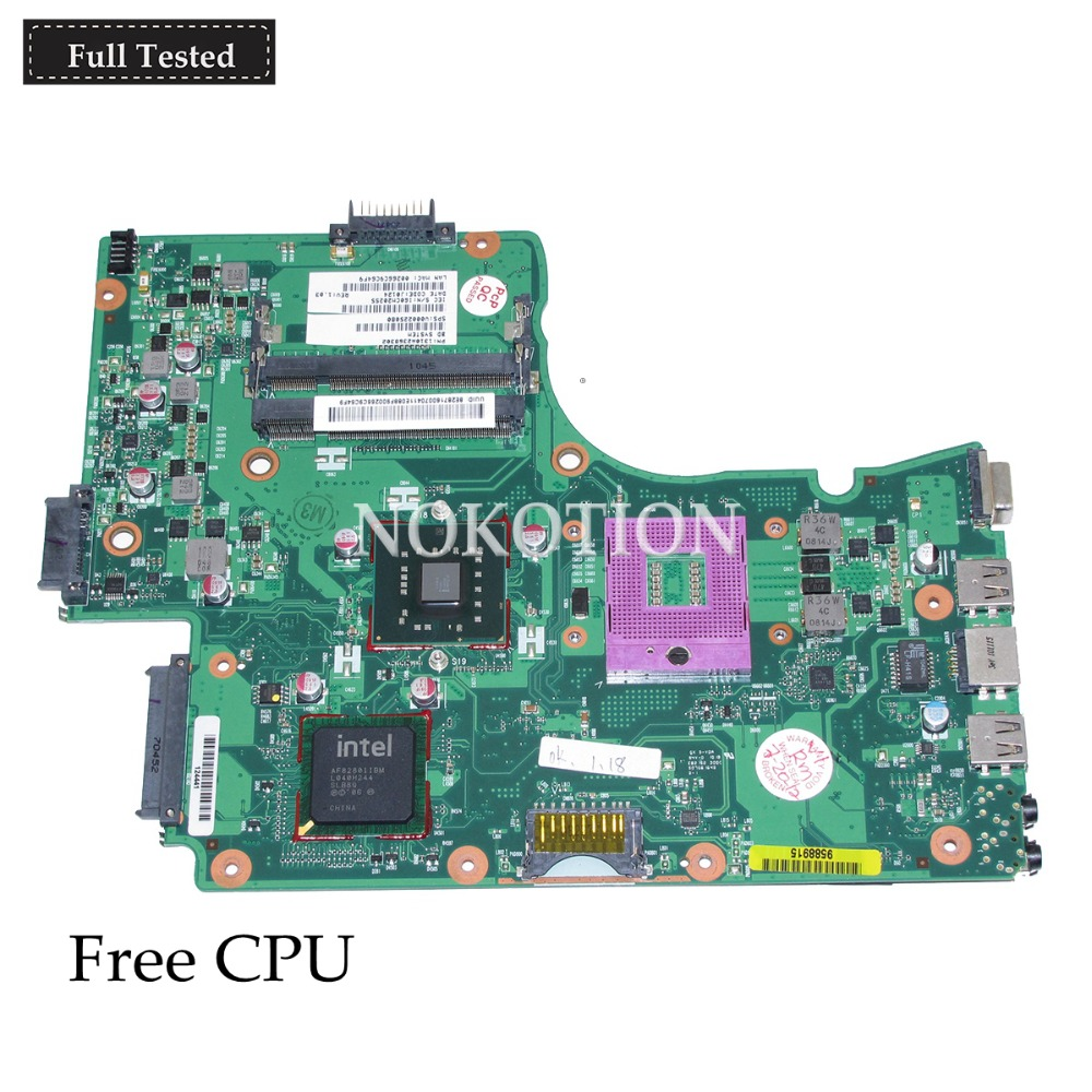 NOKOTION V000225080 1310A2368302 Main board For toshiba Satellite C665 laptop motherboard C665 DDR2 free cpu