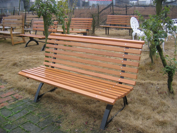 Park bench park outdoor wood chair Benches Square mall seat 7075-in ...