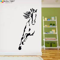Horse Wall Stickers Decoration For Original Living Room Removable Adhesive Animals Wallpaper Decoration 80 160