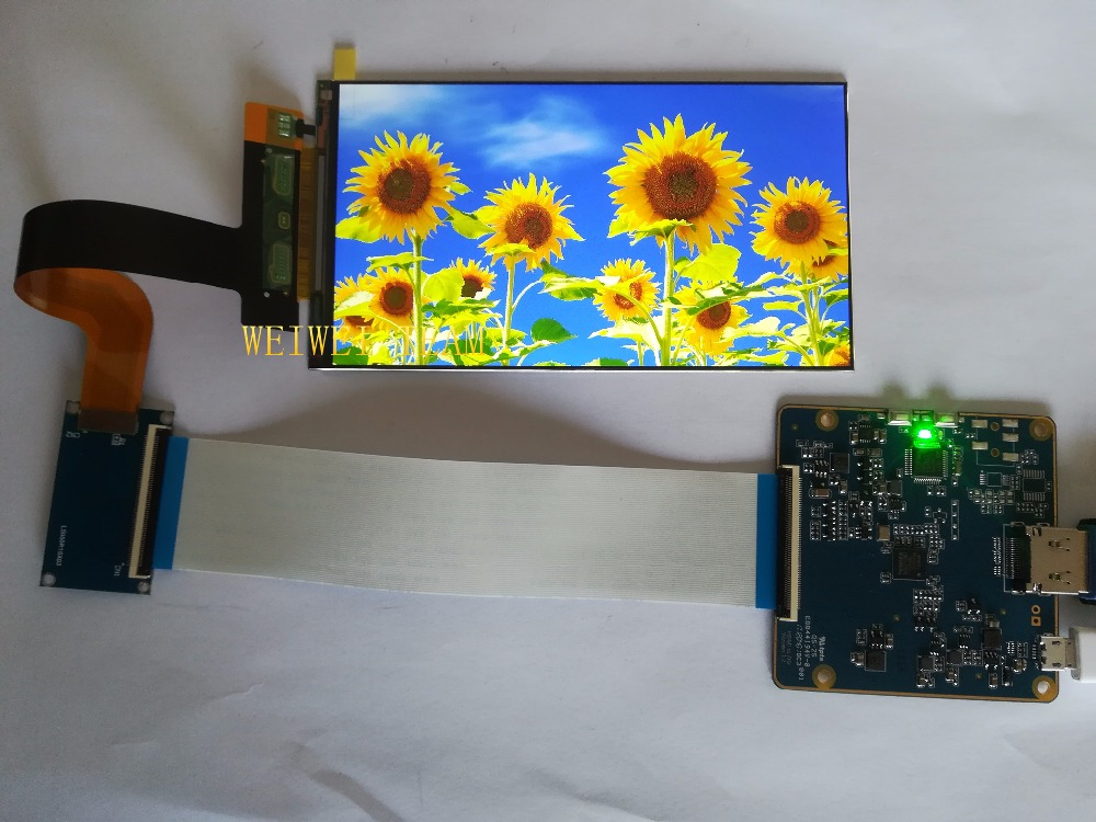 for Raspberry Pi 3 5.5 inch 1440x2560 2K IPS LCD screen display with HDMI to MIPI controller board