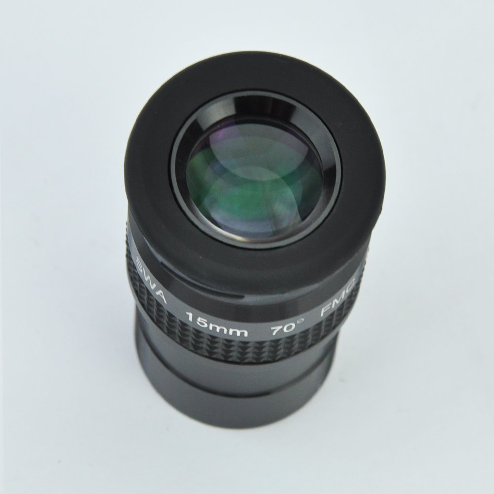 SWA 1.25inch 15mm Super Wide Angle 70 Degree Eyepieces for Astronomical Telescope - Five Elements Fully-coated High-index Glass 66 degrees ultra wide 6mm eyepiece outer lens fully multi coated for astronomical telescope