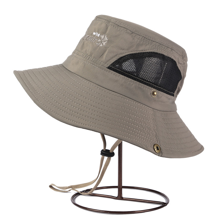 2016 new fashion mesh bucket hat boonie cap summer wide for Mesh fishing hats