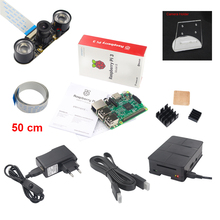 Raspberry Pi Camera Kit Raspberry Pi 3 + Night Vision Camera + Holder + Power Plug + USB Cable +Case + HDMI Cable +Heat Sink