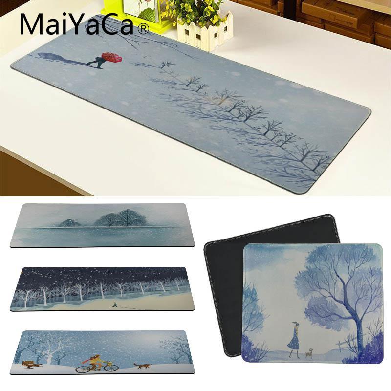 MaiYaCa Нескользящие PC зимние Прогулки собак прогулок коврик для мыши геймер играть коврики Размеры для 18x22 см 20x25 см 25x29 см 30x80 см 30x90 см