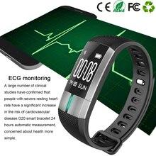 G20 мониторинг ЭКГ Smart Band Фитнес трекер Приборы для измерения артериального давления браслет pulsometro PK ID107 xio Mi mi Группа 2 в наличии