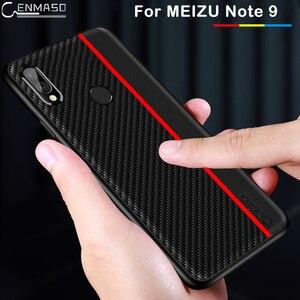 Image 2 - Funda de protección para Meizu Note 9, funda trasera de piel sintética de fibra de carbono para Meizu Note 9, carcasa para Meizu Note 9