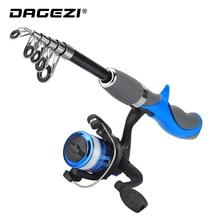DAGEZI Carbon Fiber Rod Superhard Ice Fishing Rod Combo Full Kit Fishing Rod Gear With Fishing